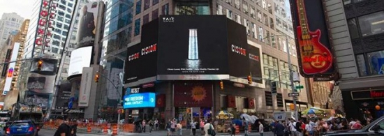 TAIC IN NEW YORK TIMES SQUARE